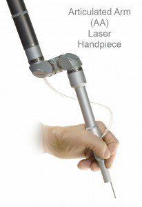 Articulated arm laser
